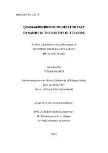 quasi-geostrophic models for fast dynamics in - ETH E