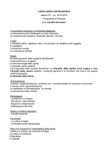 Filosofia - Liceo Scientifico Guido Castelnuovo