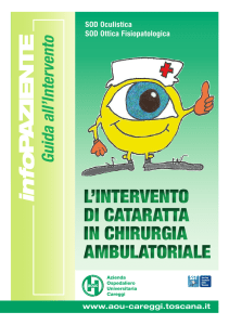 L`Intervento di Cataratta in Chirurgia Ambulatoriale