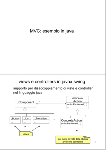 supporto in java a MVC