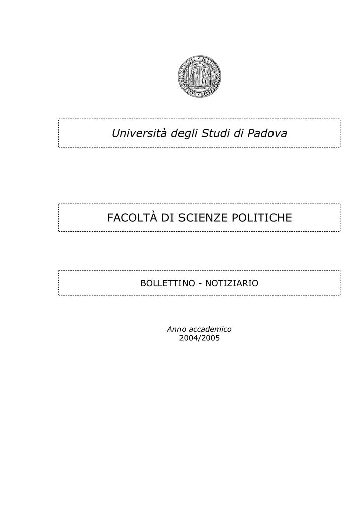 Calendario Appelli Unive.Bollettino 2004 2005 Spgi