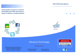 nostra brochure - Advancia Technology