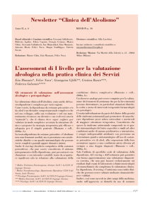 "Newsletter ""Clinica dell`Alcolismo"""