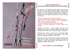Firma l`appello su www.amnesty.it
