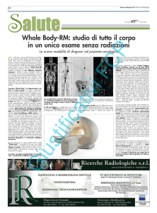 Whole Body-RM: studio di tutto il corpo in un unico esame senza