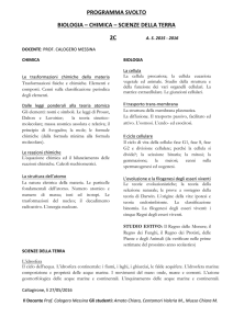 2C Scienze naturali