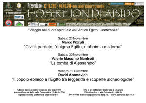 Speciale conferenze osireion