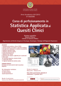 Statistica Applicataai Quesiti Clinici
