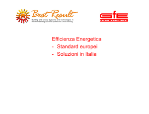 Efficienza Energetica - Standard europei