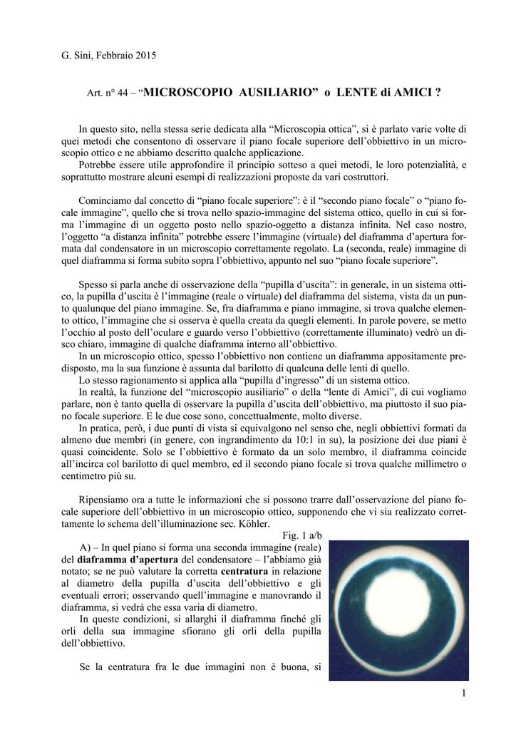becec6565a Lente di Amici - Divulgazione scientifica, ottica, biologia e molto altro