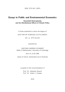 Essays in Public and Environmental Economics - ETH E