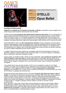 Otello (recensione) – Dance and Culture