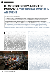 il mondo digitale in un evento §the digital world in