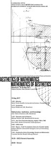 Aesthetics of Mathematics Mathematics of Aesthetics