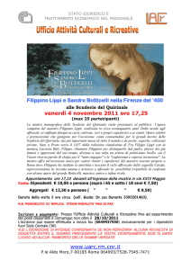 www.uarc.rm.cnr.it Filippino Lippi e Sandro Botticelli nella Firenze