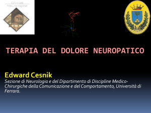 TERAPIA DEL DOLORE NEUROPATICO
