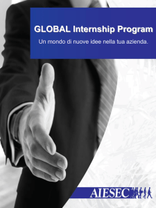 Brochure informativa del Global Internship Program