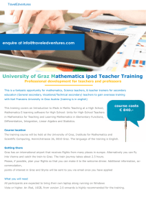 University of Graz Mathematics ipad Teacher Training