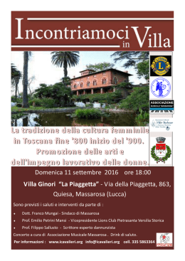 INCONTR IN VILLA 2016 Sallusto