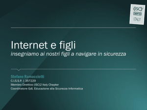 Internet e figli - (ISC)2 Italy Chapter Site