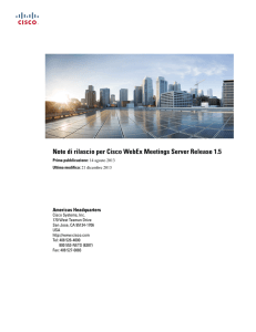 Note di rilascio per Cisco WebEx Meetings Server Release 1.5