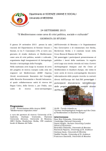 Programma - Universita` degli Studi di Messina
