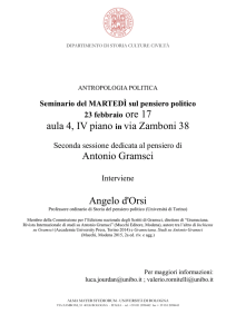aula 4, IV piano in via Zamboni 38 Antonio Gramsci Angelo d`Orsi