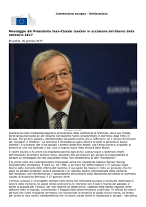 Messaggio del Presidente Jean-Claude Juncker in