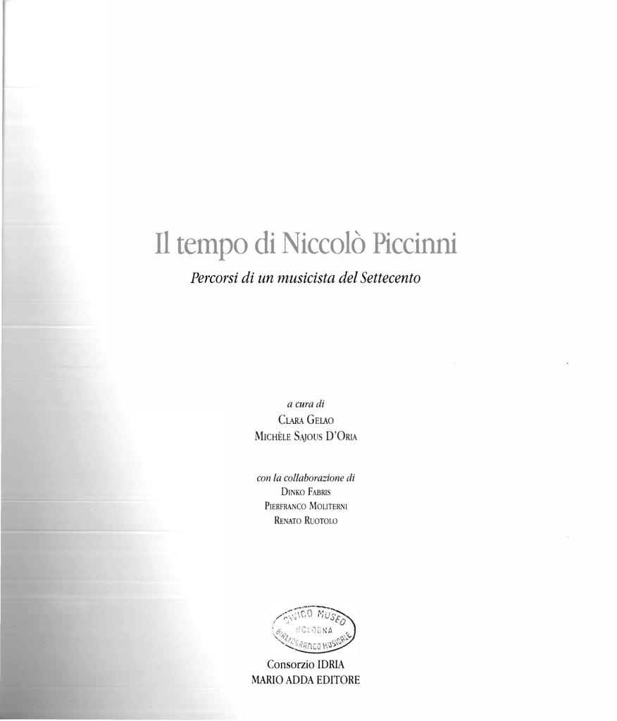 Il tempo di Niccolò Piccinni