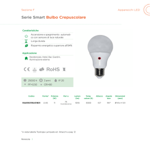 Serie Smart Bulbo Crepuscolare