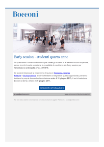 Universita` Bocconi di Milano - Early session a.a. - Carducci