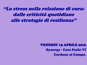 Caterina Chiodini - Burnout, Coping e Re[...]