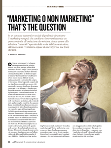 """marketing o non marketing"" that`s the question"