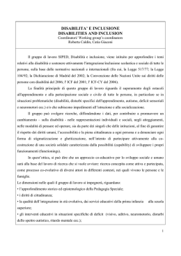 disabilita` e inclusione disabilities and inclusion