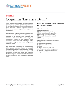Sequenza `Lavarsi i Denti`