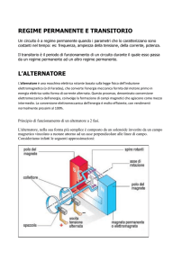REGIME PERMANENTE E TRANSITORIO L`ALTERNATORE