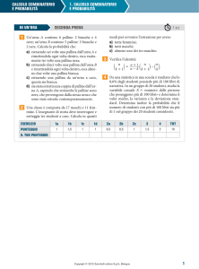 1 CALCOLO COMBINATORIO E PROBABILITÀ 1