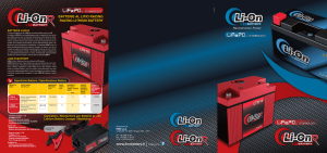 BATTERIE AL LITIO RACING RACING LITHIUM BATTERY