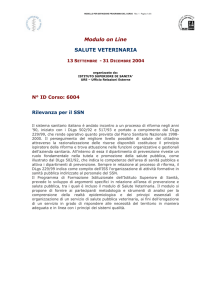 Modulo on Line SALUTE VETERINARIA
