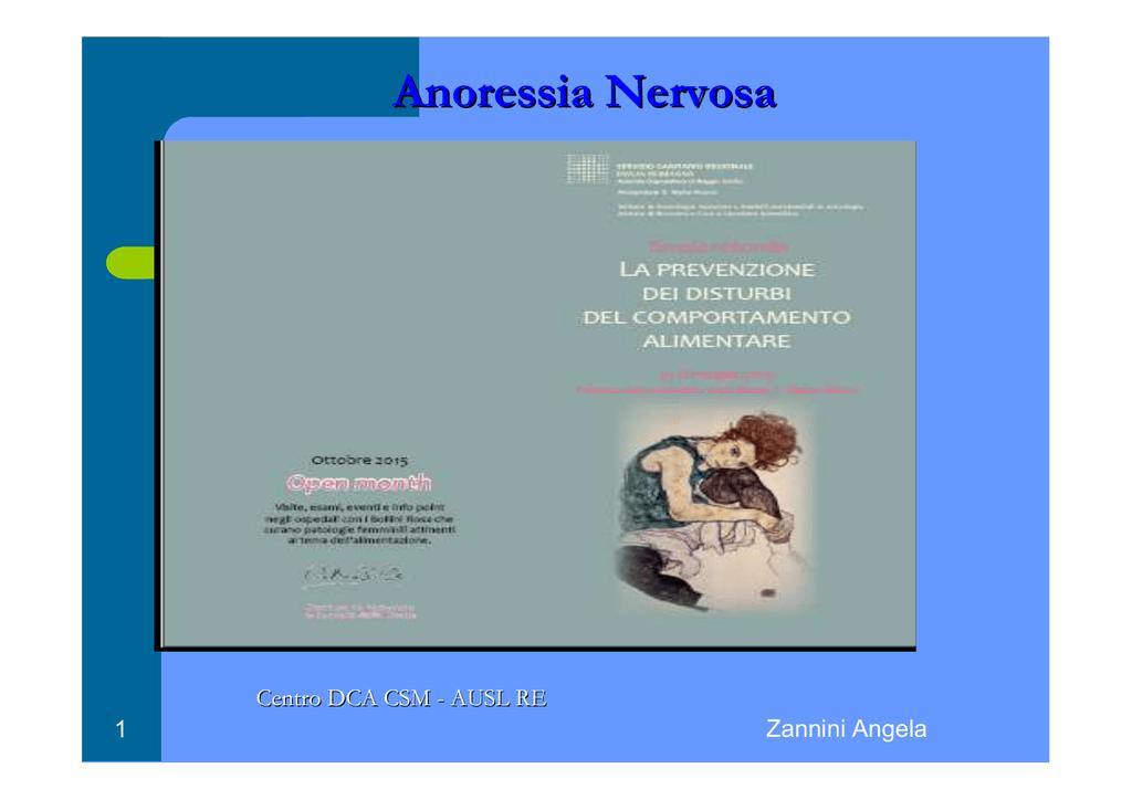 Che cosa è l`anoressia nervosa