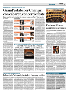Grand`estateperChiavari concabaret,concertiefeste
