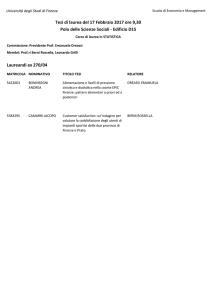 Calendario Unifi Economia.Presidente Prof Ssa Dreassi Emanuela Tesi Di Laurea Del 16 Lug
