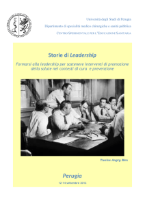 Storie di Leadership - Marketing sociale e Comunicazione per la