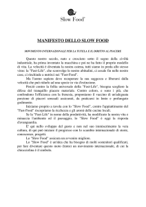 manifesto dello slow food