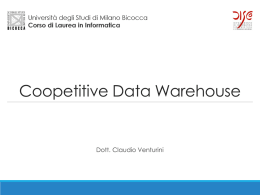 Caso di studio: Coopetitive Datawarehouse File - e-Learning