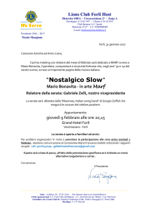 Nostalgico Slow - Lions Club Forlì Host
