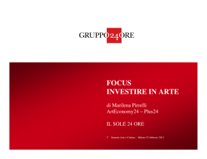 focus investire in arte