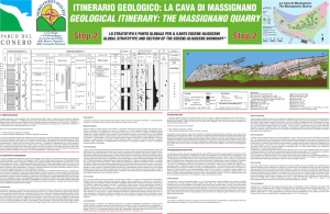 geological itinerary: the massignano quarry
