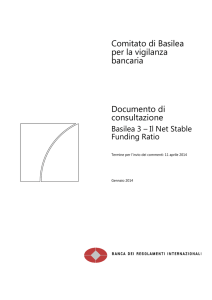 Basilea 3 - Il Net Stable Funding Ratio