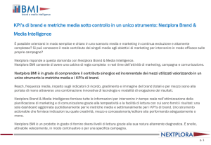 KPI`s di brand e metriche media sotto controllo in un